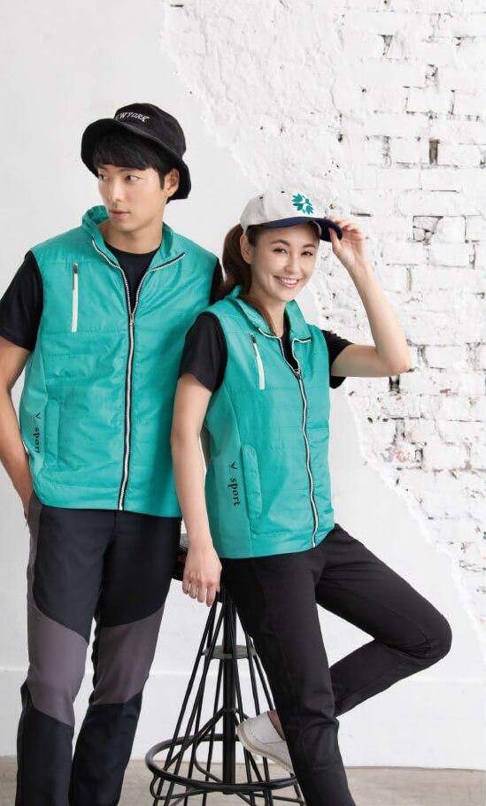 幃-單面鋪棉背心&休閒彈性長褲(綠、黑 灰)-P17